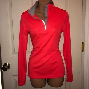Athletic half zip jacket